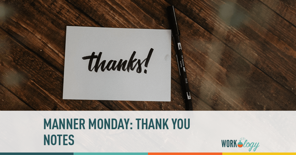 Manner Monday: Thank you notes