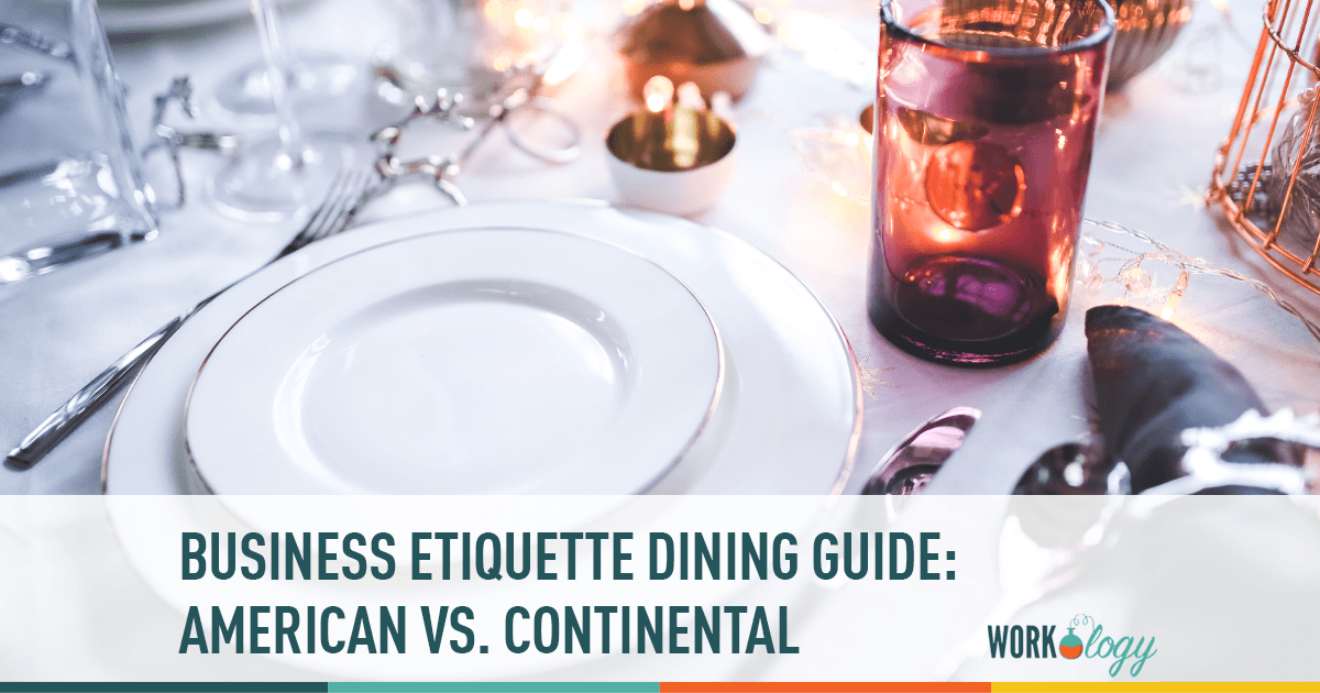 business etiquette, business dining, american, continental