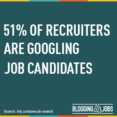 51% of recruiters are Googling job candidates