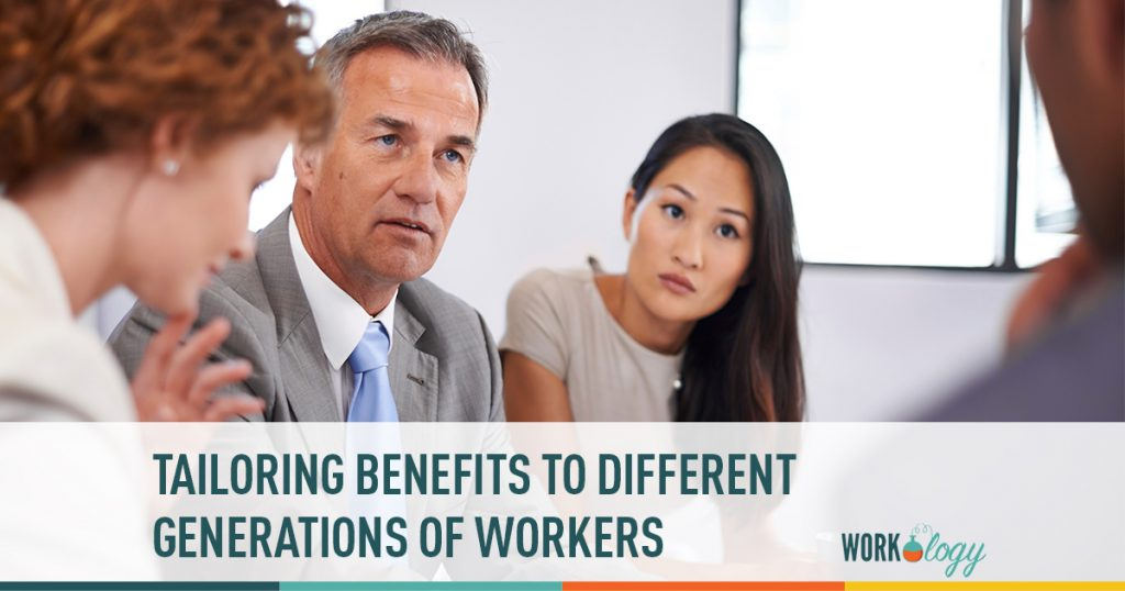 benefits, baby boomers, millennials, generations, generations at work
